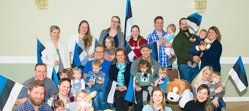 Children and partents at Toronto Estonian House